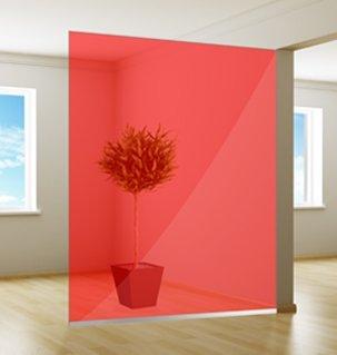 Gekleurde Raamfolie | Excellent | Red