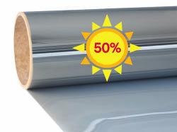 Film de fenêtre de protection solaire |Excellent |Miroir 50 |  intérieur