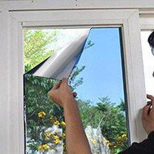 Film de protection solaire pour fenêtre | Mirrored | Static
